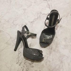 "[Chinese Laundry] ""Biddie"" Grey Patent Heels"